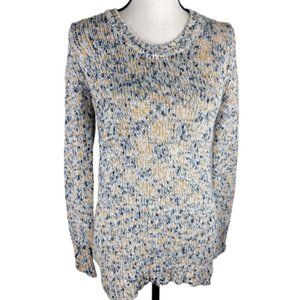 Como Black Space Dye Sparkle Knit Sweater